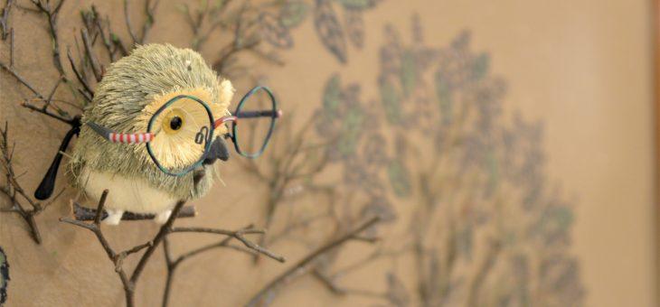 フクロウとメガネ